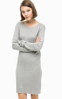 Короткое серое платье-свитер Vero Moda