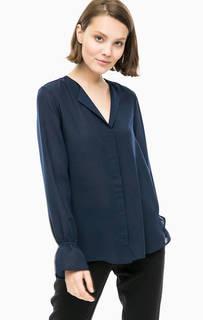 Синяя блуза на пуговицах Selected
