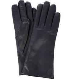 Темно-синие перчатки из лайковой кожи Bartoc