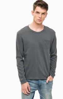 Серая футболка с карманом Tom Tailor