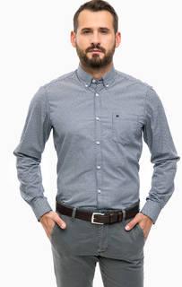 Синяя рубашка с длинными рукавами Lerros