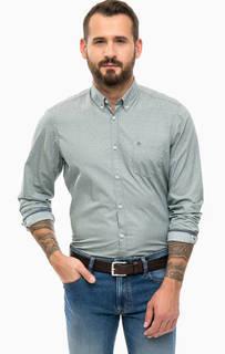 Хлопковая рубашка цвета хаки Lerros