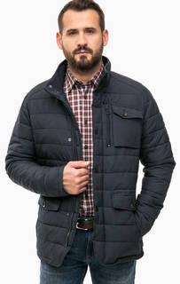 Синяя демисезонная куртка с карманами Lerros