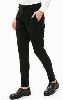 Зауженные черные брюки с эластичными вставками Lerros