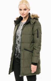 Утепленная куртка цвета хаки с капюшоном Lerros