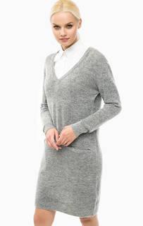 Платье-свитер с треугольным вырезом Lerros