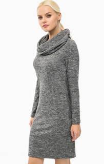 Серое платье-свитер с объемным воротом Lerros