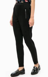 Укороченные черные брюки с высокой посадкой Lerros