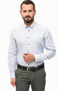 Синяя рубашка с приталенным кроем Lerros
