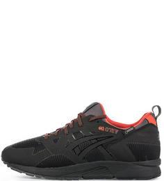 Черные текстильные кроссовки на шнуровке Asics Tiger