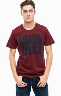 Бордовая хлопковая футболка S.Oliver
