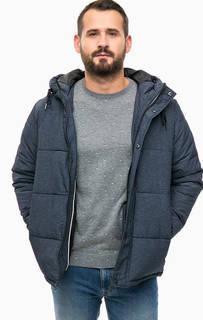Синяя куртка с капюшоном Selected