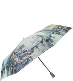 Разноцветный зонт с куполом из сатина Trust