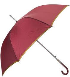 Бордовый зонт-трость с золотистой каймой Zest
