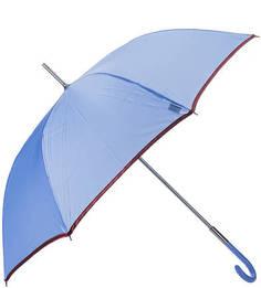 Синий зонт-трость с контрастной каймой Zest