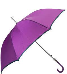 Фиолетовый зонт-трость с зеленой каймой Zest