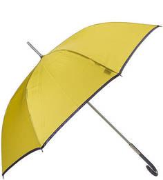 Золотистый зонт-трость с контрастной каймой Zest