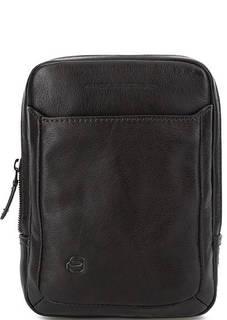 Маленькая коричневая сумка из натуральной кожи Piquadro