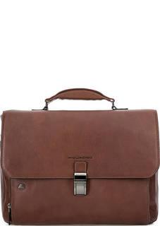Кожаный портфель с плечевым ремнем Piquadro