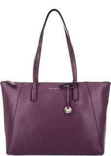 Фиолетовая сумка из сафьяновой кожи Coccinelle