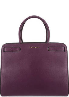 Кожаная сумка с широким плечевым ремнем Coccinelle