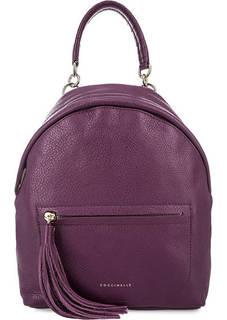 Фиолетовый рюкзак из натуральной кожи Coccinelle
