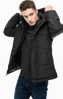 Черная демисезонная куртка со съемным капюшоном Luhta