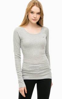 Однотонная футболка с длинными рукавами Hilfiger Denim