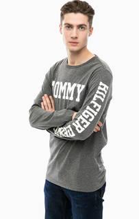 Серая футболка с длинными рукавами Hilfiger Denim