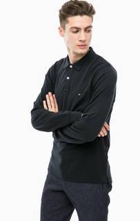 Черная хлопковая футболка поло Tommy Hilfiger