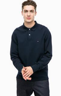 Синяя хлопковая футболка поло Tommy Hilfiger
