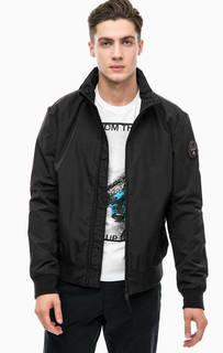 Черная куртка с воротником-стойкой Napapijri