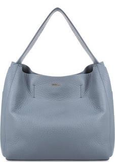 Синяя сумка из мягкой кожи Furla