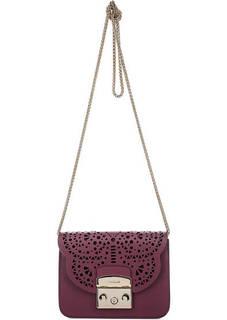 Кожаная сумка с фигурной перфорацией Furla