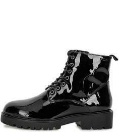 Черные ботинки из лаковой кожи Vagabond
