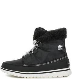Высокие черные ботинки из текстиля Sorel