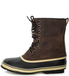 Высокие кожаные ботинки на шнуровке Sorel