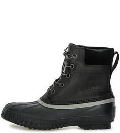 Высокие черные ботинки на шнуровке Sorel