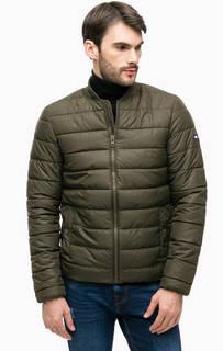 Куртка из фактурной ткани цвета хаки Hilfiger Denim