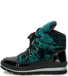 Бархатные ботинки на молнии и шнуровке Jog Dog