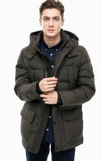 Пуховик цвета хаки с карманами Tommy Hilfiger