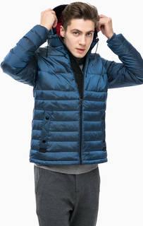 Синий пуховик со съемным капюшоном Tommy Hilfiger