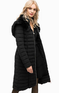 Удлиненная стеганая куртка черного цвета Marciano Guess