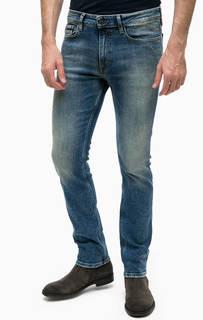 Зауженные джинсы с легкими заломами Calvin Klein Jeans