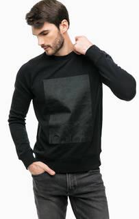 Черный свитшот с декоративной отделкой Calvin Klein Jeans