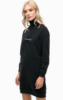 Платье-свитшот с высоким воротом Calvin Klein Jeans