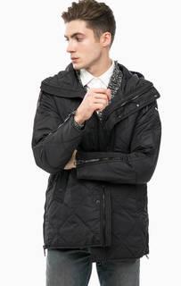 Черная демисезонная куртка с капюшоном Replay
