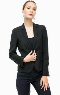 Черный пиджак с декоративными клапанами Cinque
