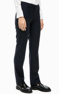 Синие брюки из костюмной ткани Cinque