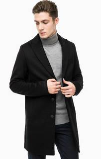 Черное пальто из шерсти Cinque